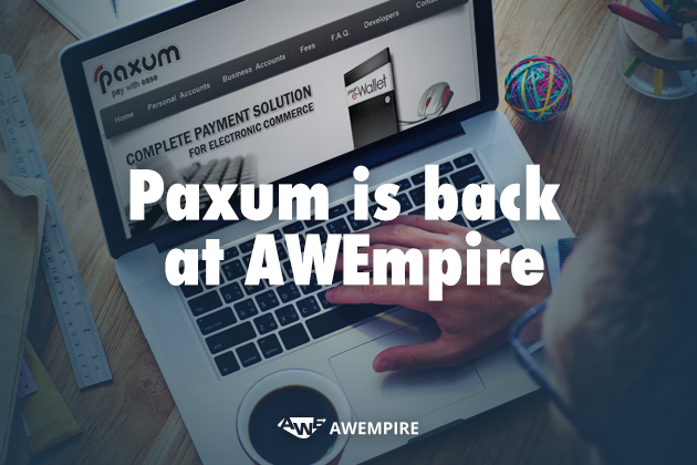 1 - Choose Paxum as your means of receiving payments!