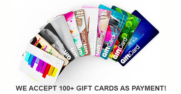 Pay with any gift card on our sites!