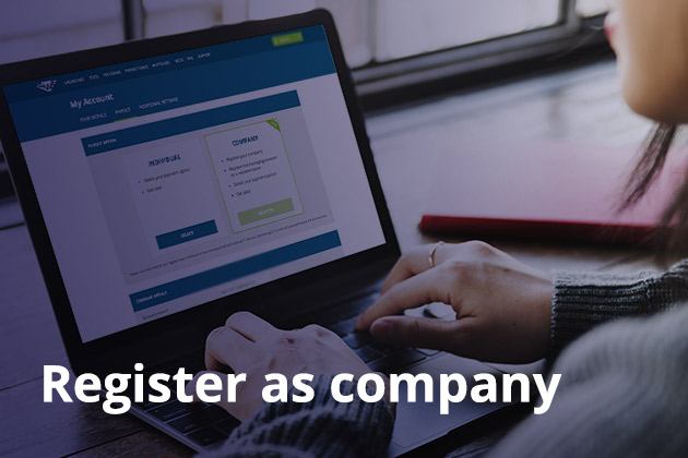 1 - Register as company